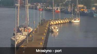 Kamera on-line widok na basen postojowy - Zarząd Portu Morskiego Mrzeżyno - strona zewnętrzna
