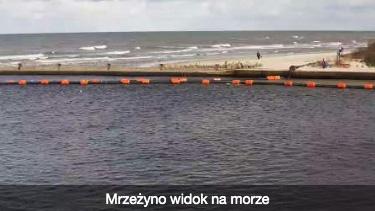 Kamera on-line widok na morze - Zarząd Portu Morskiego Mrzeżyno - strona zewnętrzna